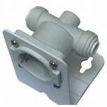 iX Head Assy 3/8 Pushfit inc Wall Bracket
