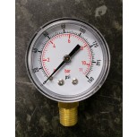 "1/4"" Bottom Connection Pressure Gauge 50mmDia 0-160PSI Dual Scale"