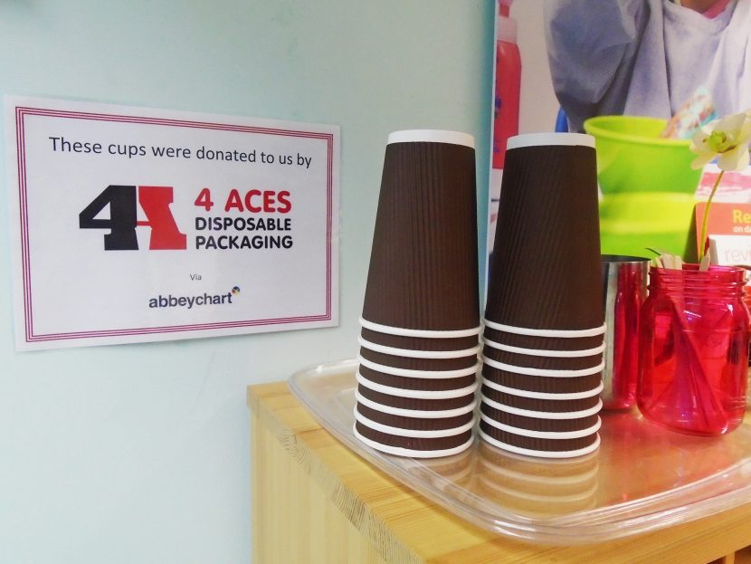 cups donated to nursery by 4aces