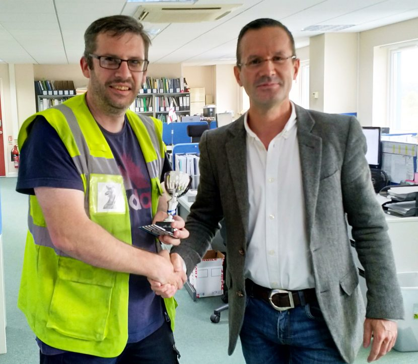 Mike Edginton has been named as Employee of the Quarter