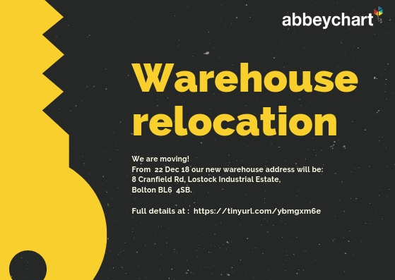 An important announcement – Abbeychart warehouse relocation