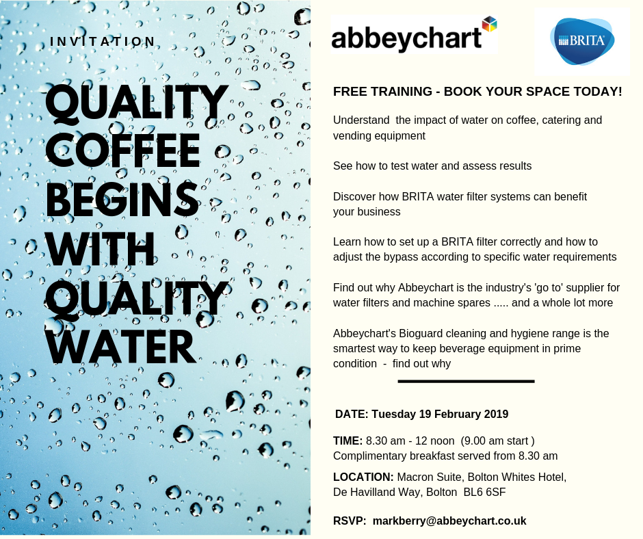 FREE Brita training event spills the beans on water quality