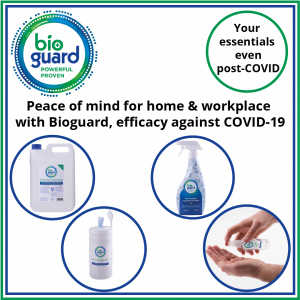 Bioguard products are proven to be effective against COVID - Hygiene is essential even post-COVID